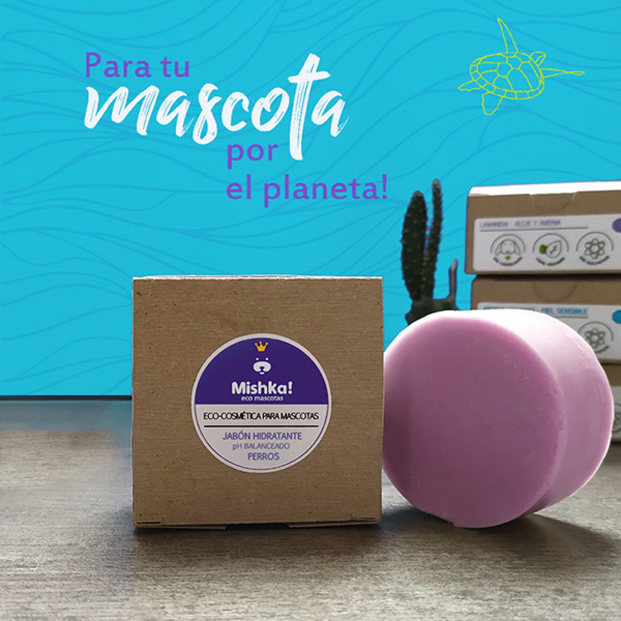 Mishka Jabón Hidratante Cosmética Ecológica Mascotas Aceite de oliva virgen extra; aceite de coco orgánico Con aceite esencial de Lavanda