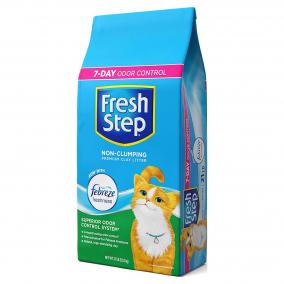 Arena Fresh Step Non-Clumping con Febreze 14Lb