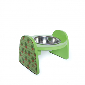 Comedero Bebedero Elevado Perro Gato Mandi Sencilo Cactus