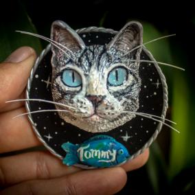 Imán de Nevera Personalizado // Gato