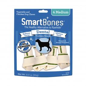 Smartbones Dental Medium 4Pk