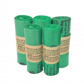 Bolsas para perro – 250 bolsas – 5 rollos plastico biodegradable
